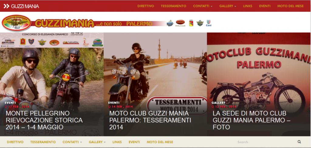 home guzzimania palermo sito web realizzato responsive