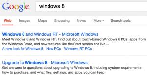 google nuovi risultati ricerca