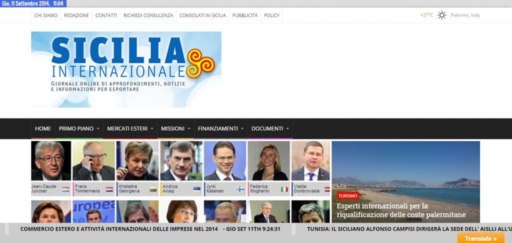 siciliainternazionale sito realizzato da SMWnet coll Gianbo