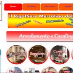 template ebay personalizzato html css grafica web il mercatino dell'usato Monsano