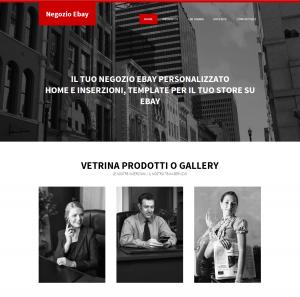template negozio e-bay personalizzato CSS_HTML offerta